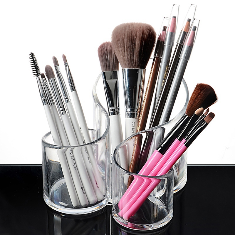 New Clear Makeup Storage Box Organizers Lipstick Display Boxes Cosmetic Makeup Brush Holder Accessories Cosmetic Display Stand