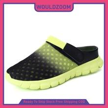 2021 Men Sandals Slides Summer Beach Slipper Hole Shoes New Mesh Clogs Garden Casual Shoes Flat Sandal Man Slippers Sandalias
