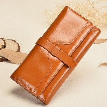 Genuine Leather Card Holder Long Purse