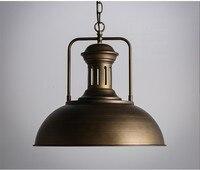 간단한 산업 조명 펜 던 트 램프 빈티지 금속 매달려 램프 매달려 램프