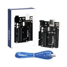 10 pz/lotto LAFVIN Per UNO R3 Bordo ATmega328P ATMEGA16U2 con Cavo USB per Arduino