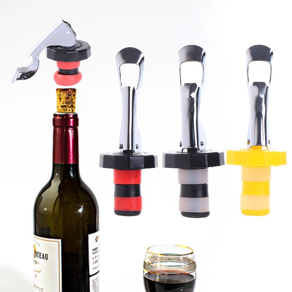 Press Wine Stopper Vacuum Sealed Plug Wine Bottle Stopper Bar Kitchen Tools
