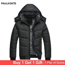 MenS Winter New Casual Cotton Hooded Parker Coat Jacket High Quality Fashion Trend Warm