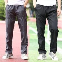 Pant Men Sportwear Straight-Trousers Loose Casual New Autumn Waist Spring Four-Season