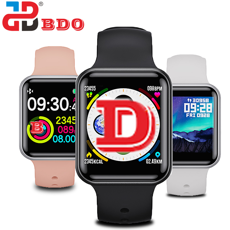 BDO SN72 full touch men's and women's IP68 waterproof heart rate blood pressure sleep monitor fitness tracker smart watch|Smart Watches| |  - title=