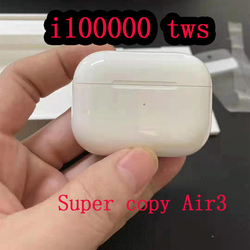 Новый i100000 TWS 1:1 Супер копия воздуха Pro3 Беспроводной Bluetooth наушники pk w1 h1 1536u чип i500 i10000 i50000 i9999 i90000 pro TWS
