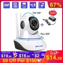 Techage 1080P bezprzewodowa kamera IP niania elektroniczna Baby Monitor Dome kryty 2 Way Audio wideo CCTV Wifi PT kamera nadzoru bezpieczeństwa P2P Alert