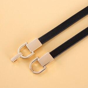 Image 5 - Mode Echt Leer Elastische Dunne Riem voor Vrouwen Stretch Taille Riem voor Jurk Verstelbare Vrouwelijke Riemen Accessoires