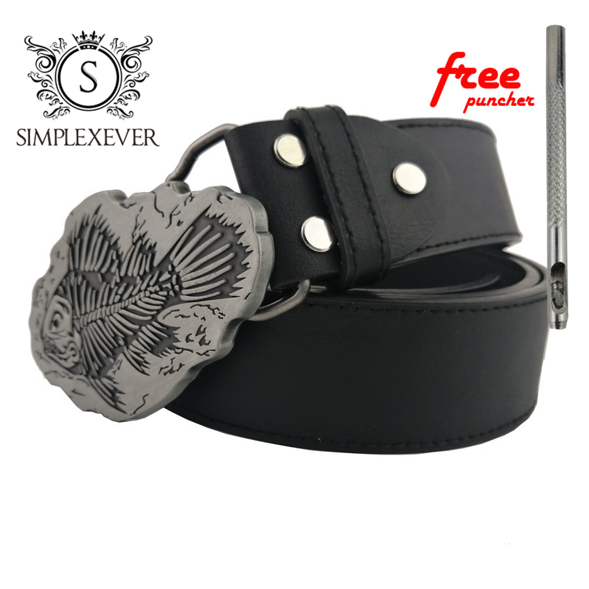 Silver Fish Pattern Belt Buckle Handmade Metal Belt Buckle Accessories Waistband DIY Western Cowboy Belt Buckle