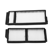 2pcs White Cabin Air Filters Car Accessories Set Fits For Mazda 3 5 2004-2010