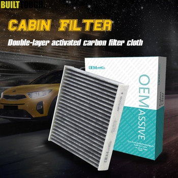 Car Pollen Cabin Air Conditioning Filter Activated Carbon For Honda City Civic X CR-Z Fit 3 4 HR-V Insight 2011 2012 2013 2014 image