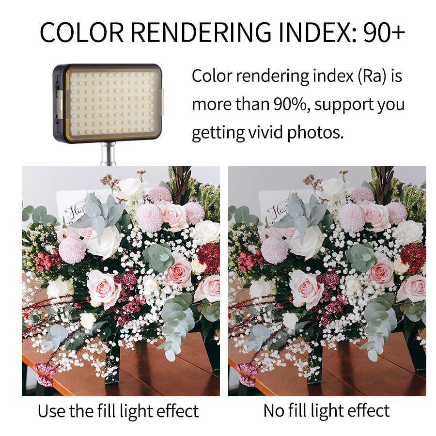 Mamen 96 pode ser escurecido led studio luz fotográfica para youtuber streaming ao vivo câmera de vídeo anel luz lâmpada bi-temperatura de cor