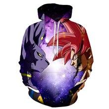 Newest Anime Dragon Ball Plus Size Hoodie Men Women Winter Pullovers Cosplay 3D Hooded Oversized Sweatshirts Naruto Hoodies