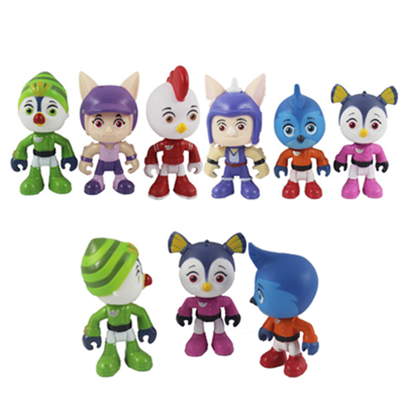 Top Wing Patrol Juguetes 7cm PVC Cartoon Model Model Figurines Top Wing Anime Figure Kids <font><b>Toys</b></font> image