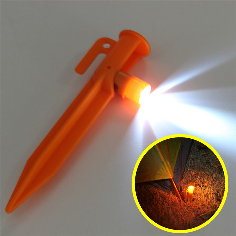 15cm Led Lights Practical Outdoor Tent Pegs Camping Trip Survival Accessory