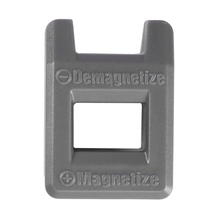 HLZS-отвертка намагничивающая размагничивающая Магнитная практичная палочка инструмент Цвет: серый