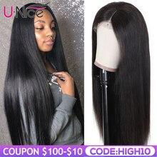 Волосы UNICE полностью кружевные человеческие волосы парики 14-26 дюймов бразильские Remy прямые волосы натуральный цвет человеческие волосы парики