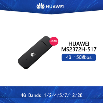 Unlocked Huawei MS2372 MS2372H-517 4G 150Mbps LTE Cat4 Industrial IoT Dongle 4G Bands 1/2/4/5/7/12/28 Supported OS:Linux