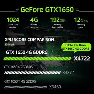 Image 3 - Machenike T58 VA i5 10300H GTX1650 4G Gaming Laptop 2020 8GB RAM 512G SSD 15.6 Ultra border Backlit keyboard notebook i5