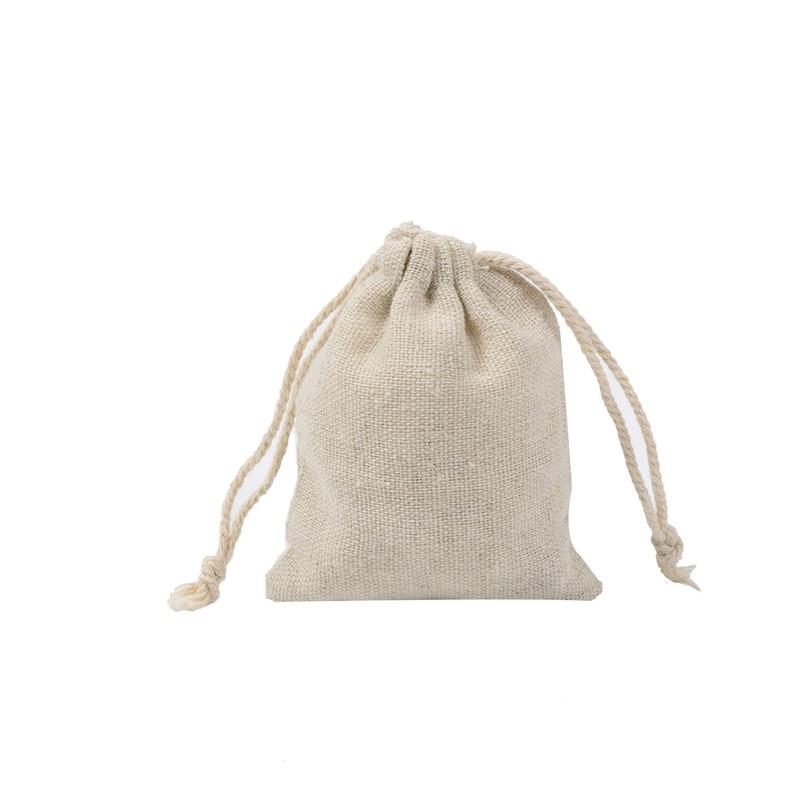6 Size Reusable Cotton Drawstring Shopping Bag Women Men Travel Shopper Tote Storage Bags in Storage Bags from Home Garden