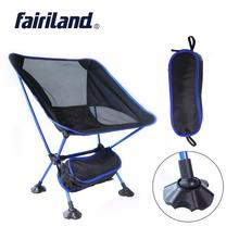 Portable Moon Chair Lightweight Fishing Camping BBQ Chairs Folding Extended Hiking Seat Garden Ultralight Office Home Furniture cheap fairiland FA19CR2 Red Sky Blue Dark Blue Orange Red Blue Orange Sliver-grey 1050g 2 31lbs(Chair) 360g 0 79lbs(Stool) Fishing Camping Hiking Picnic