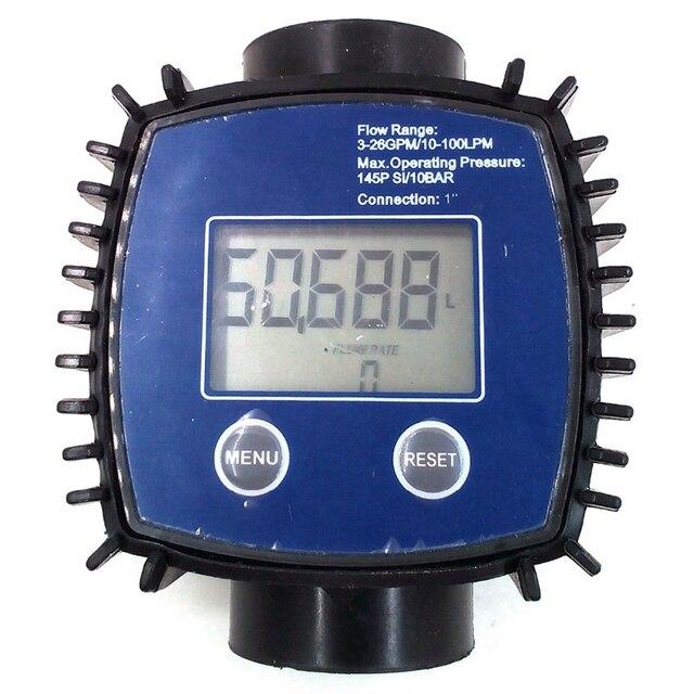 K24 قابل للتعديل مقياس تدفق التوربينات الرقمية للنفط ، الكيروسين ، المواد الكيميائية ، البنزين ، الميثانول ، المياه ، اليوريا ، Etc.10-120L/Min