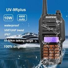Walkie talkie impermeabile Baofeng UV 9R più 10W portatile CB Ham Radio ricetrasmettitore VHF UHF 2 vie Radio uv9r più caccia 10 50km