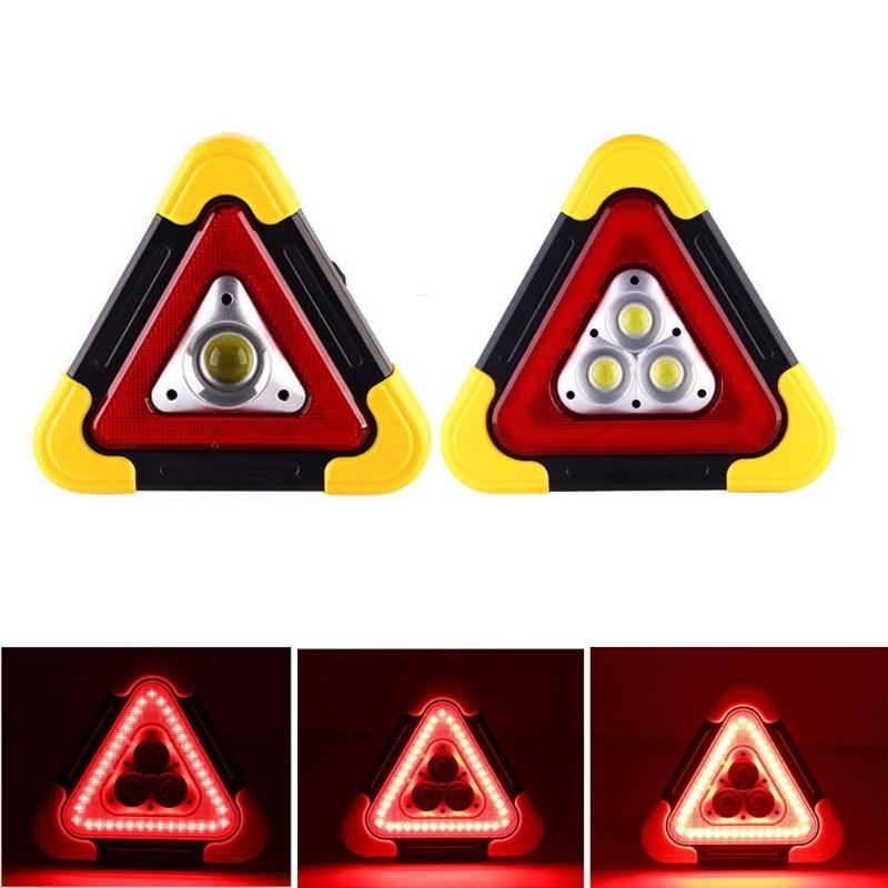 Multi Function Triangle Warning Sign Car LED Work light Road Safety Emergency Breakdown Alarm lamp , Flashing light on hand