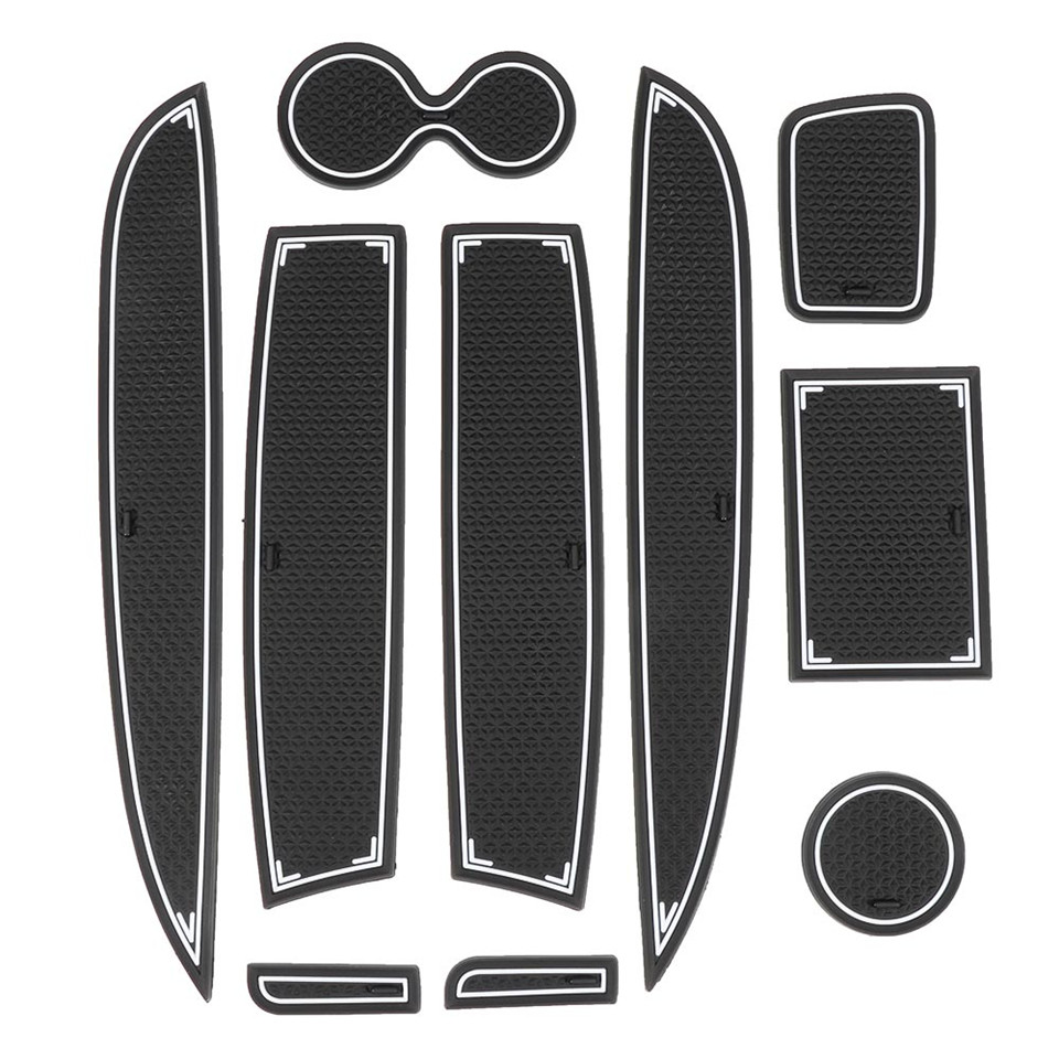 Rubber Mat Door Groove Mat For Renault Clio 4 Interior Decoration Anti-Slip Gate Slot Cup Pad 10pcs Car Styling Accessories