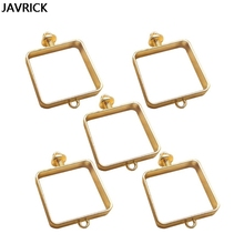 5Pcs Square Pressed Flower Frame Open Bezel Pendants Resin Mold Jewelry Findings DIY Pendant Accessories Making Tool