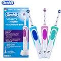 Oral B звуковая электрическая зубная щетка перезаряжаемая электрическая щетка для гигиены полости рта вращающиеся зубные насадки