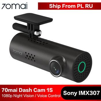 70mai kamera na deskę rozdzielczą 1S kamera samochodowa Wifi APP amp j Angielski sterowanie 1080P HD Night Vision g-sensor 70 Mai wideorejestrator samochodowy tanie i dobre opinie MSC8336D Przenośny rejestrator Klasa 10 Built-in 240mAh Li-ion Battery 105 °-140 ° Samochód dvr 1920x1080 NONE Cykl nagrywania