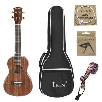 23 Inch Ukulele Guitar Armguard Type 4 Strings Hawaiian Guitar Musical Instruments Yukrili Cotton Bag String Variable Clip Strap
