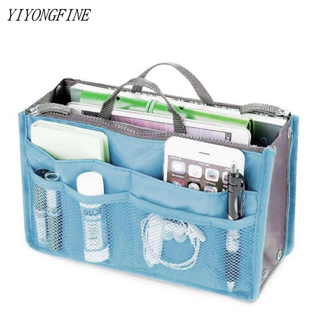High Quality Cosmetic Bag Women Makeup Bag Portable Beauty Pouch Functional Bag Toiletry Bag Insert Organizer Handbag Purse
