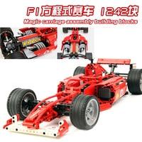 Decool technic F1 포뮬러 레이싱 카 1:10 & 1:8 호환 lepinlys technic 8674 트럭 빌딩 블록 어린이 선물 용품