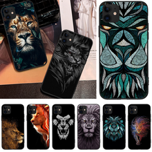 OFFeier Creative lion Black TPU Soft Phone Case Cover For iPhone 5C 6 6S 7 8 plus X XS XR XS MAX 11 11 pro 11 Pro Max offeier canyon view cover black soft shell phone case for iphone 5c 6 6s 7 8 plus x xs xr xs max 11 11 pro 11 pro max