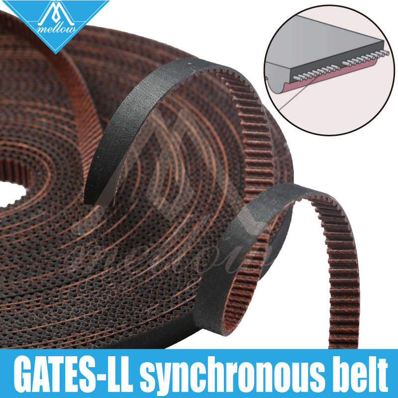 High Quality 3D Printer GATES-LL-2GT Gear Synchronous Belt GT2 Width 6MM 9MM 10MM Timing Belt , Wear Resistant For BLV Mgn Cube