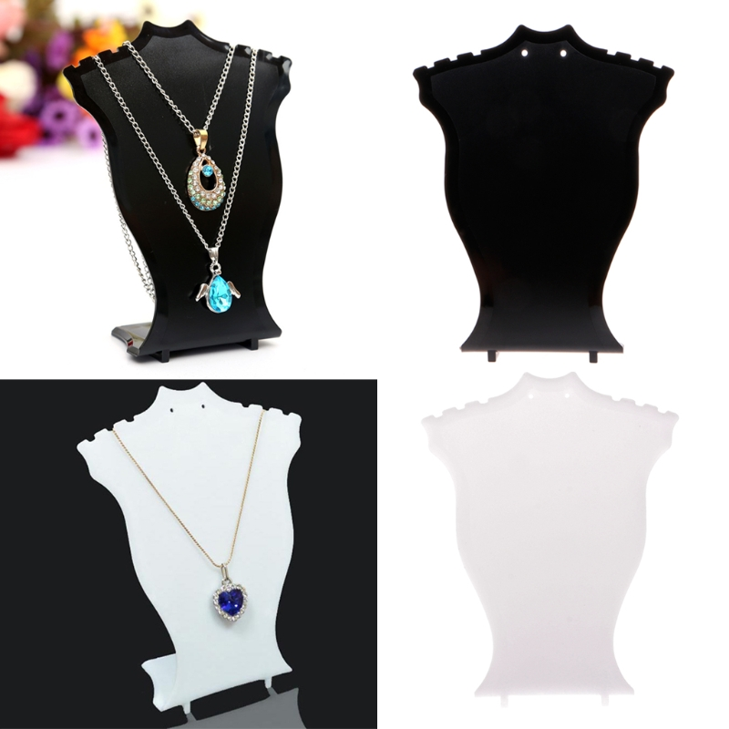 Pendant Necklace Chain Earring Jewelry Bust Display Holder Stand Showcase Rack