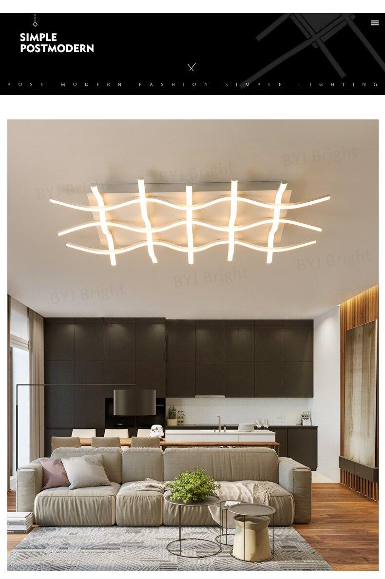 H5908b3a777d943a58ae989835f88d1f9n Homelight | Modern Floor Lamps | Creative Modern LED Ceiling Lights For Living Room Bedroom Kitchen Black/White Deco Ceiling Lamp Indoor Home Lighting Fixtures 001