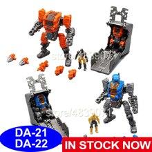 MFT aksiyon figürü oyuncakları DA 21 ve DA 22 DA21 ve DA22 küçük oranı güç zırhı güç takımı kayıp gezegen deformasyon dönüşüm