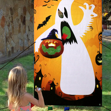 Halloween Ghost Pumpkin Bean Bag Toss Game decorations Party Kids Toys With 3 Bags Fun Carnival Outdoor