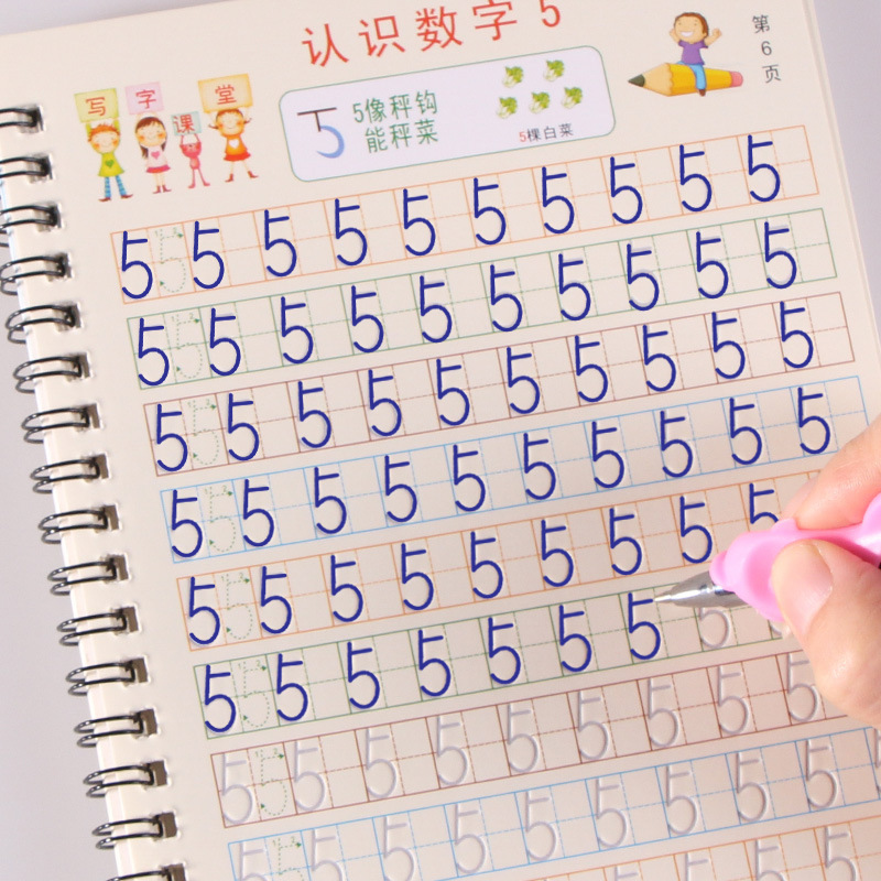 Practice-Book Numbers 3d Copybook Kids Toys Learning Math 0-10-Handwriting-Books Calligraphy
