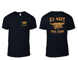 Camiseta da equipe do selo da marinha dos eua apenas dia fácil foi ontem b/y camiseta impressa t camisas de manga curta hipster t pharajuku