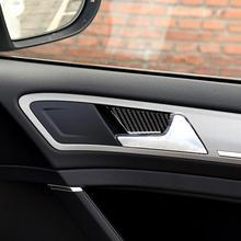 Аксессуары для интерьера из углеродного волокна, наклейка на дверную чашу и панель для Volkswagen Golf 7 GTI R GTE GTD MK7 2013-2017