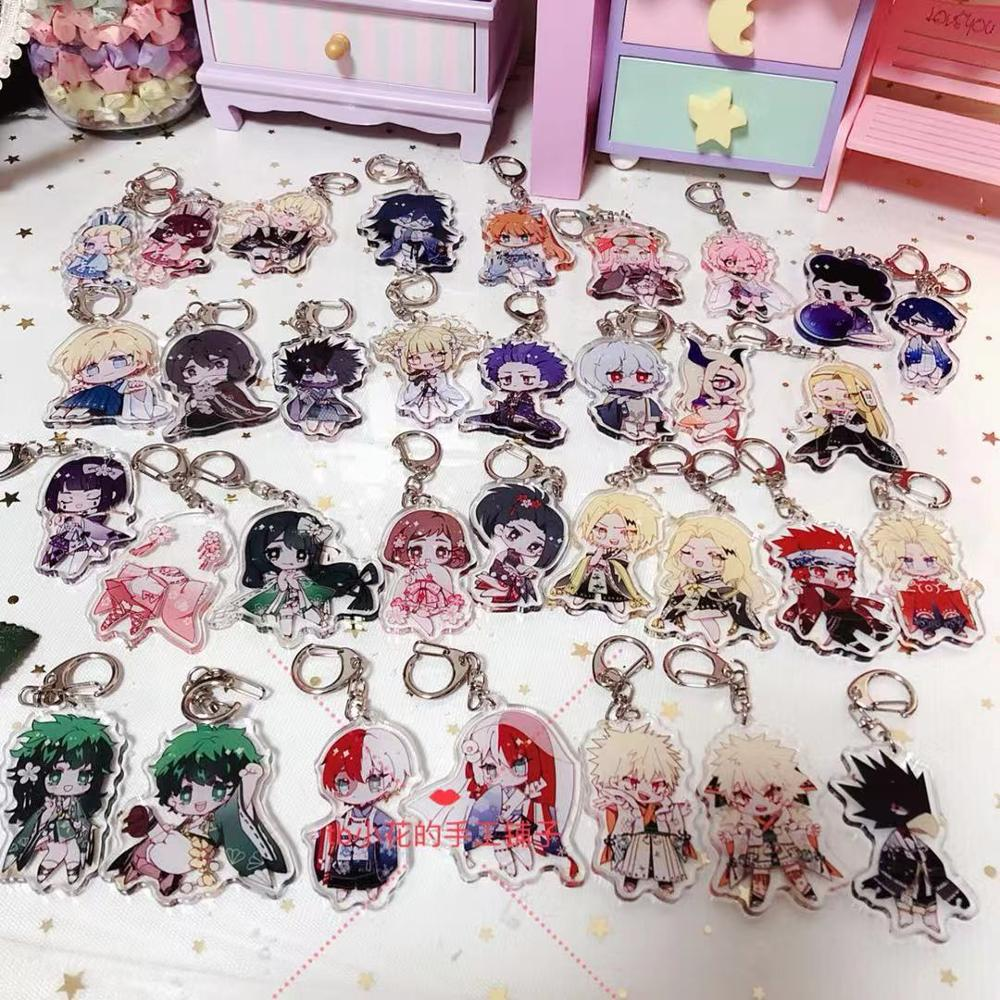 Anime My Hero Academia Eraser Head Bakugou Shouto Monoma  Cosplay Acrylic Keychain Plush Ball Keyring Strap Charms Gift 33 Type