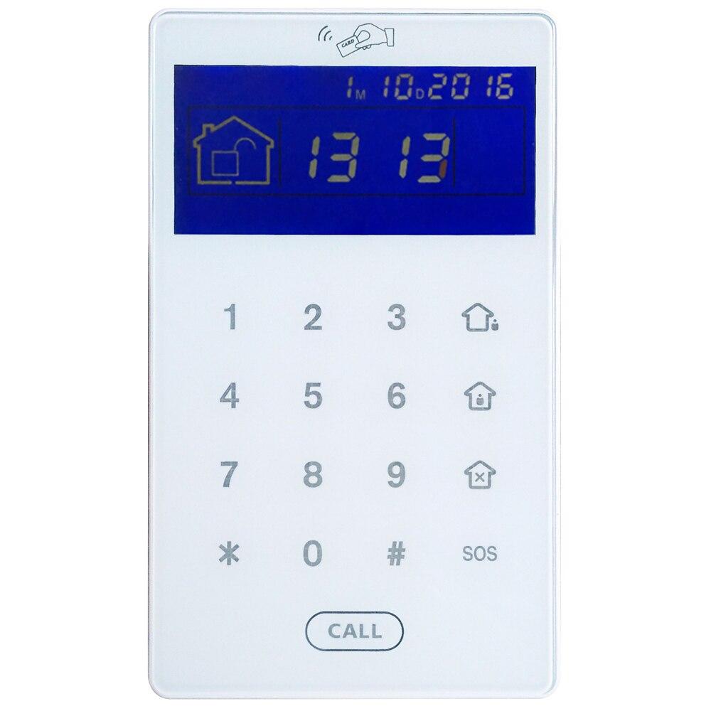 Фокус 433Mhz 868Mhz сенсорный экран Беспроводная RFID Клавиатура демонтаж сигнализации хост RFID метки клавиатуры встроенный литиевый аккумулятор