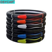 Dsycar 1 pçs couro do plutônio cobertura de volante do carro respirável anti deslizamento capas de direção adequado 38cm decoração automóvel