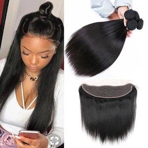 Fechamento brasileiro do laço do cabelo humano de remy 4x4 fechamento do laço 13x4 fechamento do laço para as mulheres pretas pre-arrancadas beauhair com cabelo do bebê