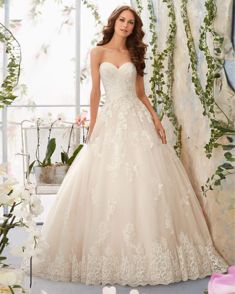 Vestido De Novia 2018 Lace Appliques Country Western Vintage Princess Gown Brides Robe De Mariee Mother Of The Bride Dresses