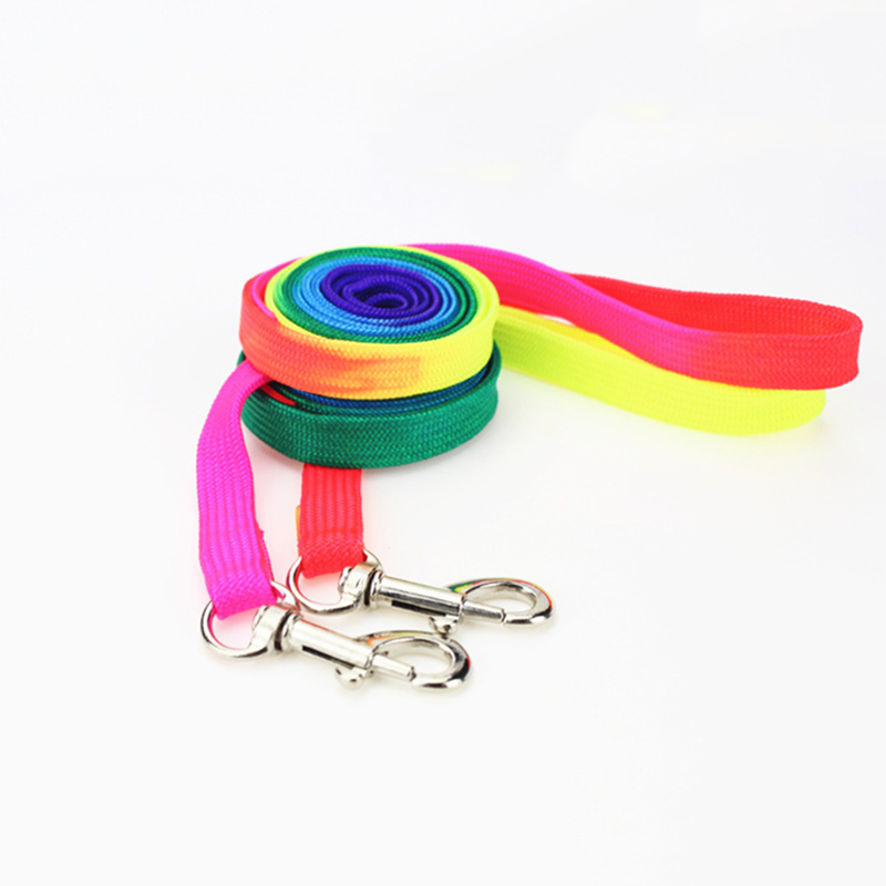 Colorful-Rainbow-Pet-Dog-Collar-Harness-Leash-Soft-Walking-Harness-Lead-Colorful-and-Durable-Traction-Rope (3)